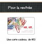 Concours gratuit : Spécial pour la rentrée, Une carte cadeau Bureau en Gros d'une valeur de $50