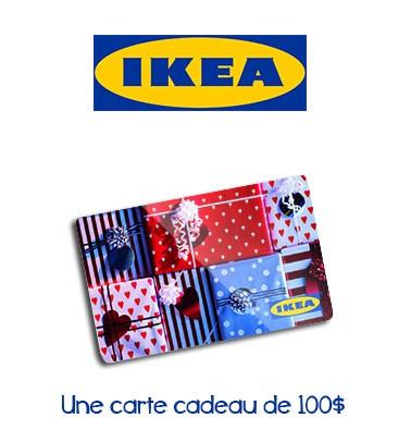 concours une carte cadeau d 39 une valeur de 100 chez ikea