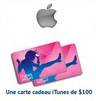 Concours gratuit : Spéciale Apple : Une carte cadeau iTunes de $100