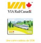 Concours gratuit : Spécial : Une carte cadeau d'une valeur de $100 chez VialRail