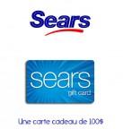 Concours gratuit : Spécial : Une carte cadeau d'une valeur de $100 chez Sears