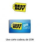 Concours gratuit : Spécial : Une carte cadeau d'une valeur de $100 chez Best Buy