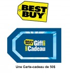 Concours gratuit : Spécial Best Buy : Une carte-cadeau d'une valeur de $50 chez Best Buy