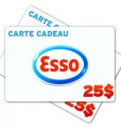 Concours gratuit : Gagnez une carte cadeau Esso de 25$