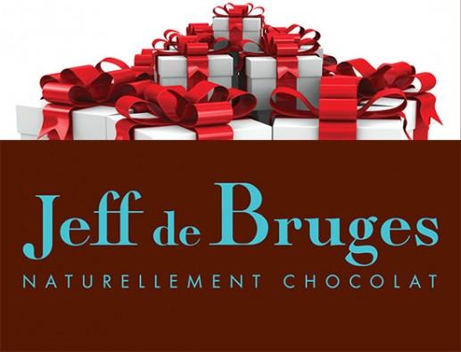 Concours gratuit : SPÉCIAL CHOCOLAT DE NOËL : Une carte-cadeau Jeff de Bruges de 50$