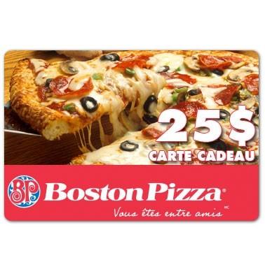 Concours gratuit : Gagnez une carte cadeau de 25$ chez Boston Pizza