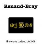 Concours gratuit : Spécial : Une carte cadeau d'une valeur de $100 chez Renaud Bray