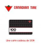 Concours gratuit : Spécial : Une carte cadeau d'une valeur de $100 chez Canadian Tire