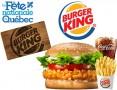 Concours gratuit : SPÉCIAL FÊTE DU QUÉBEC: Une Carte-cadeau Burger King de 25$