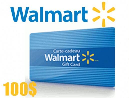 Concours gratuit : SPÉCIAL ÉPICERIE: Une Carte-cadeau Walmart de 100$