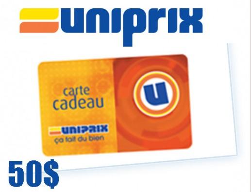 Concours gratuit : SPÉCIAL ÉPICERIE : Une Carte-cadeau Uniprix de 50$
