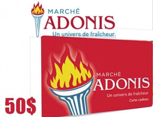 Concours gratuit : SPÉCIAL ÉPICERIE : Une Carte-cadeau Marché Adonis de 50$