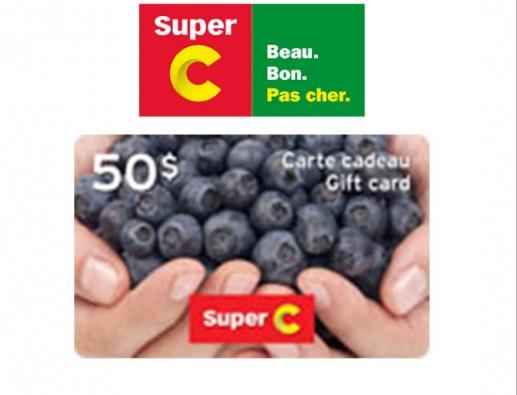 Concours gratuit : SPÉCIAL ÉPICERIE : Une Carte-cadeau Super C de 50$