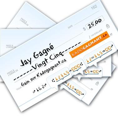 Concours gratuit : Un chèque-cadeau de $25