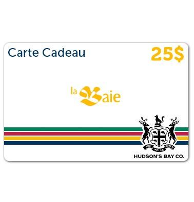 Concours gratuit : Gagnez une carte-cadeau La Baie de 25$