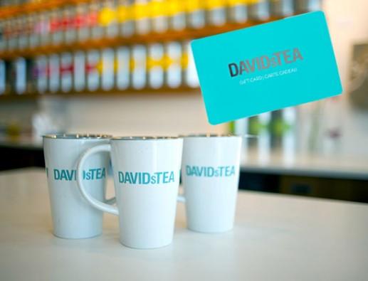 Concours gratuit : Spéciale Café : Une carte-cadeau de 20$ Les Thés DAVIDsTEA
