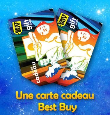 Concours gratuit : Une carte-cadeau Best Buy de $20