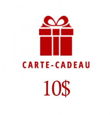 Concours gratuit : Un chèque-cadeau de $10