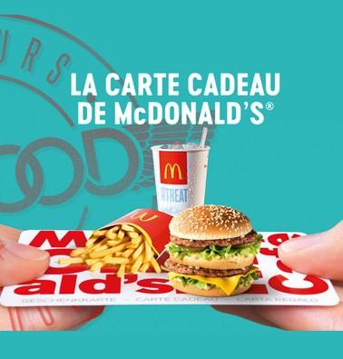 Concours gratuit : Une Carte-cadeau McDonald's de 10$