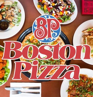 Concours gratuit : Une Carte-cadeau Boston Pizza de 15$