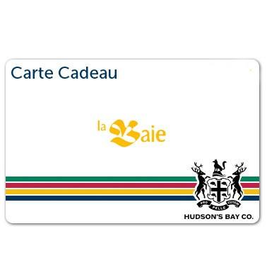 Concours gratuit : Gagnez une carte-cadeau La Baie d'Hudson de 10$