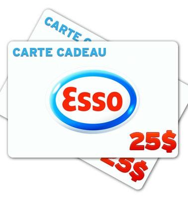 Concours gratuit : Une carte cadeau Esso de 25$